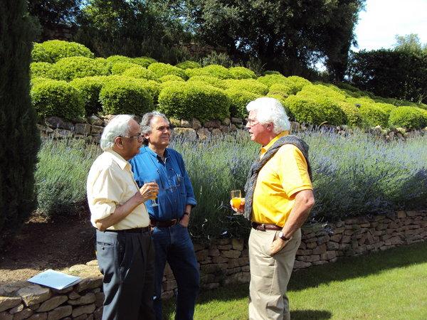 Drs. Kanti Rai, Carlo Croce and Bill Plunkett