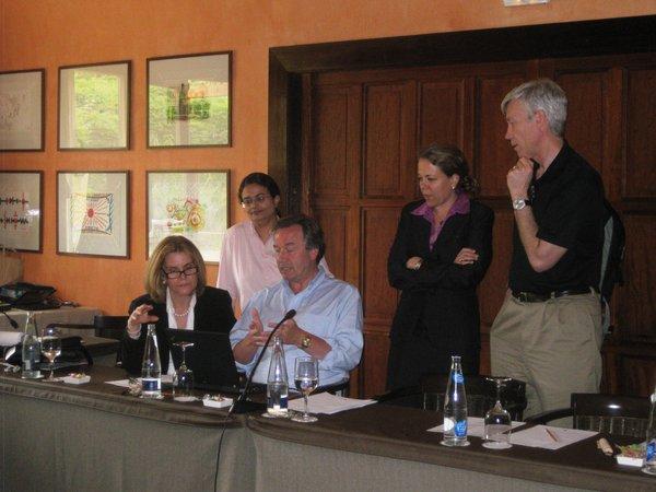 Drs. Elizabeth Shpall, Chitra Hosing, John Gribben, Catherine Bollard and David Maloney