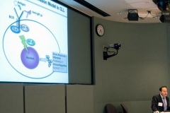 Dr. Januario explains signalling pathways of ZAP-70 in CLL cells