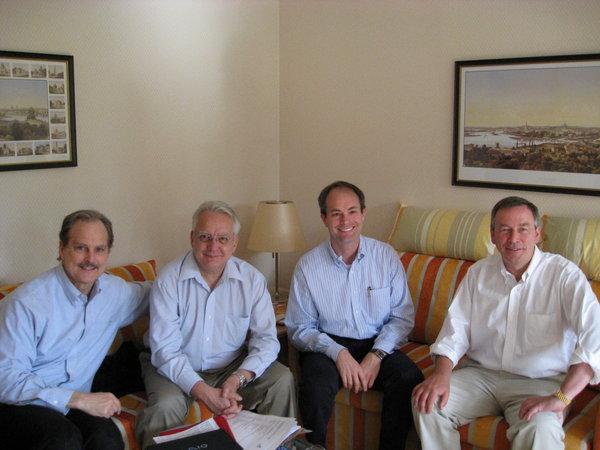 Drs. Thomas Kipps, Emili Montserrat, Bill Werda and John Gribben